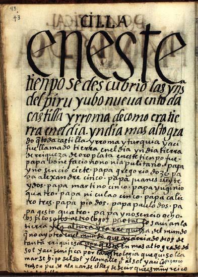 El descubrimiento de las Indias del Perú, pág. 43