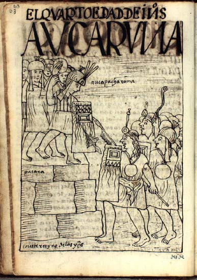 La cuarta edad de los indios, Auca Runa (pg. 63)