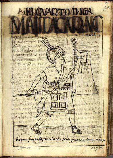 The fourth Inka, Mayta Capac Inka (98-99)