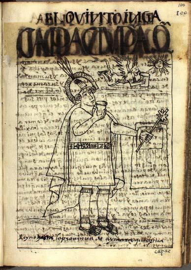 The fifth Inka, Capac Yupanqui Inka (100-101)