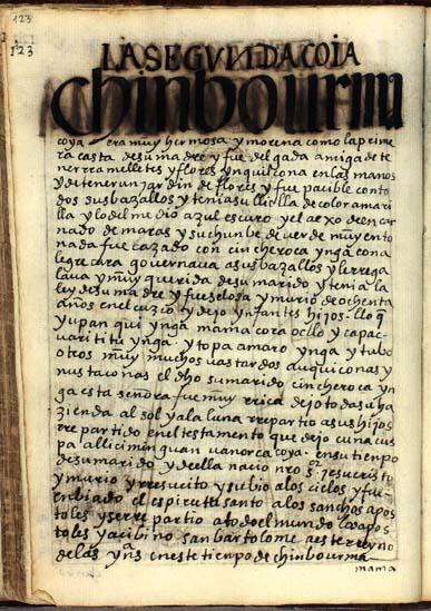 La segunda quya, Chinbo Urma, pág. 123