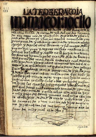 La tercera quya, Mama Cora Ocllo, pág. 125