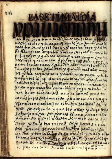 La séptima quya, Ipa Huaco Mama Machi, pág. 133