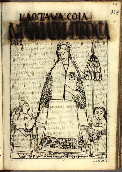 The eighth quya, Mama Yunto Cayan (p. 134)