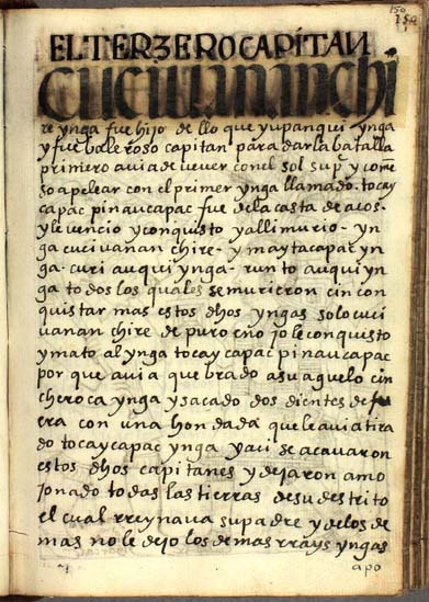 El tercer capitán, Cuci Uanan Chiri, pág. 150
