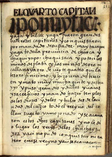 El cuarto capitán, Maytac Ynga, pág. 152