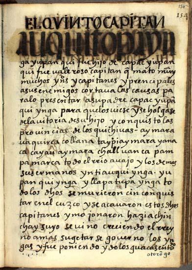 El quinto capitán, Auqui Topa Ynga Yupanqui, pág. 154