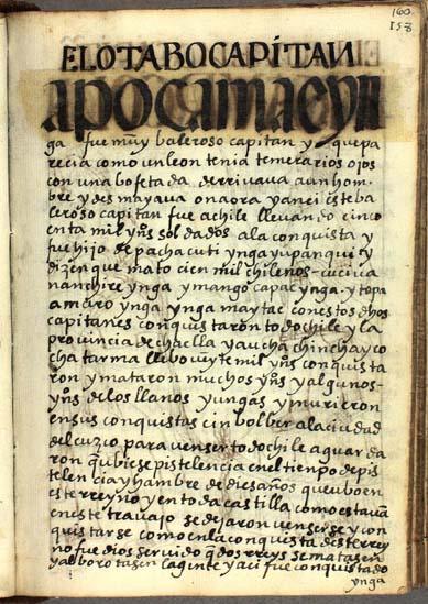 El octavo capitán, Camac Ynga, pág. 160