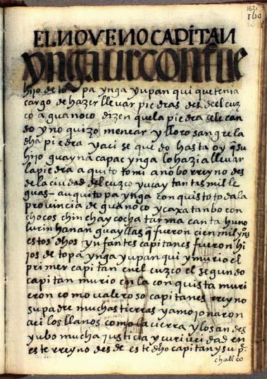 El noveno capitán, Urcon Ynga, pág. 162