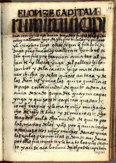 El undécimo capitán, Rumi Ñaui, pág. 166