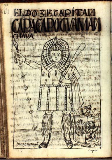 El duocécimo capitán, Guaman Chaua, qhapaq apu, señor poderoso (pág. 167)