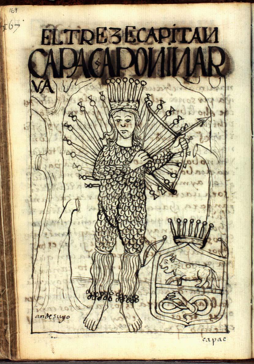The thirteenth captain, Ninarua, qhapaq apu, powerful lord