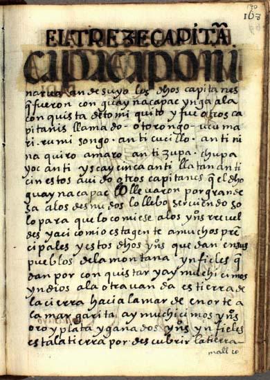 El décimotercero capitán, Ninarua, pág. 170