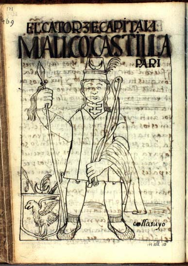 The fourteenth captain, Mallco Castilla Pari (p. 171)