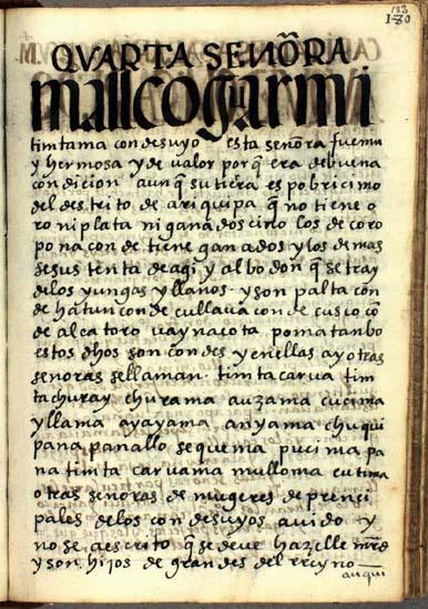 La cuarta señora, Mallco Guarmi Timtama, pág. 182
