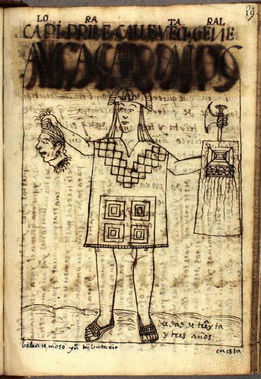 """La primera """"calle"""" o grupo de edad de hombres, awqa kamayuq, guerrero de treinta y tres años (pág. 196)"""