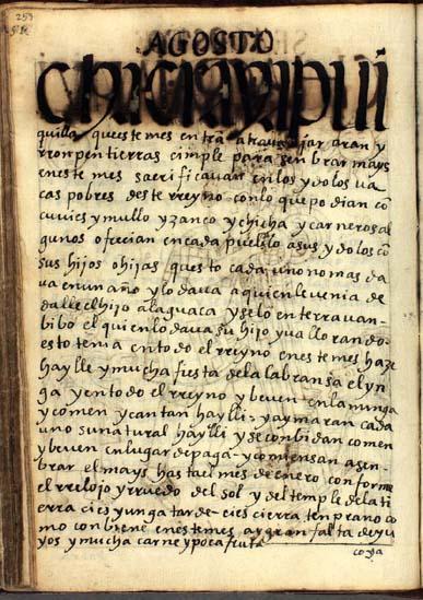 Agosto, mes de romper tierras, pág. 253