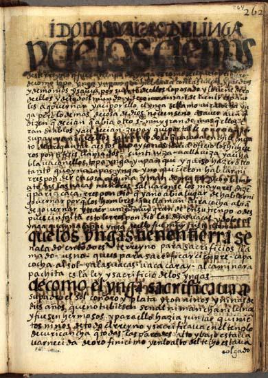 Ídolos y waqas del Ynga, pág. 264