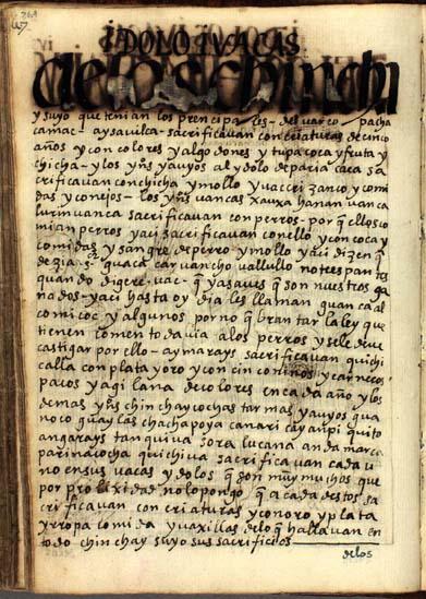 Ídolos y waqas de los Chinchaysuyos, pág. 269