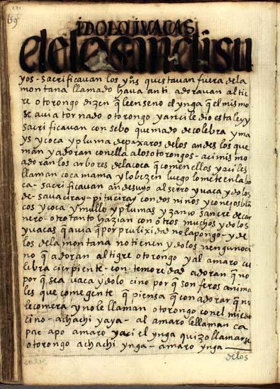 Ídolos y waqas de los Andesuyos, pág. 271
