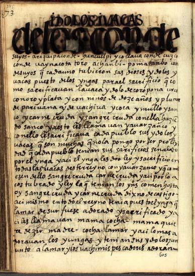 Ídolos y waqas de los Condesuyos, pág. 275