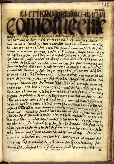 Entierros de los Chinchaysuyos, pág. 292