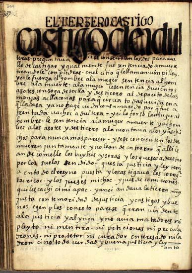 Castigos para adúlteros, pág. 309