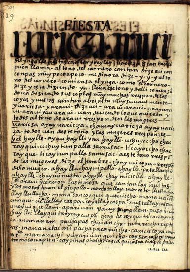 Fiesta de los Yngas, pág. 321