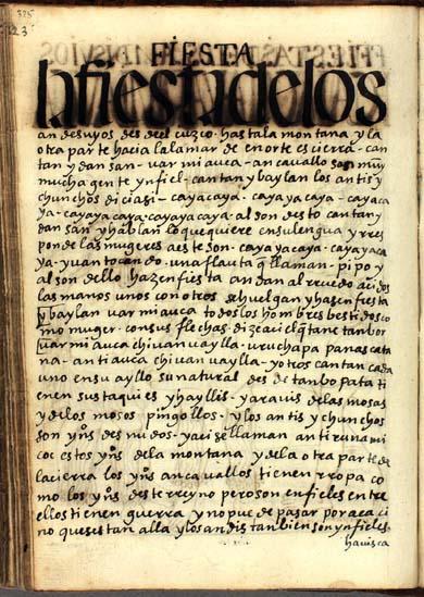 Fiesta de los Andesuyos, pág. 325