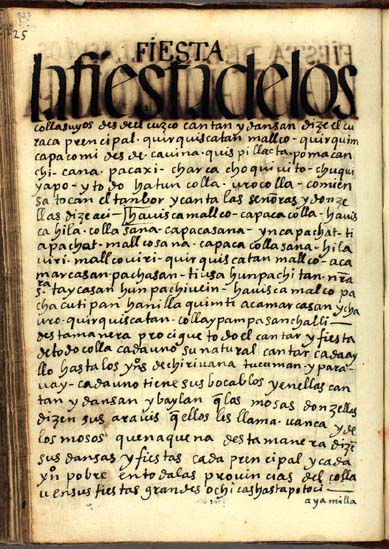 Feast of the Qullasuyus (326-327)