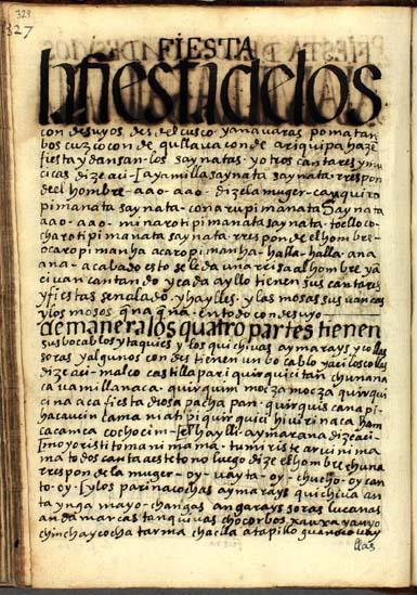 Fiesta de los Condesuyos, pág. 329