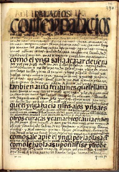 Los palacios, las riquezas y el cortejo del Ynga, pág. 332