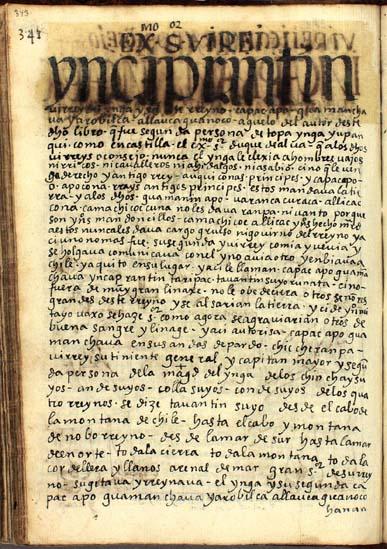 El virrey del Ynga, pág. 343