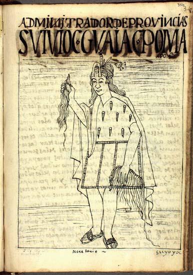 Administradores de provincias, suyuyuq; hijos de grandes señores, qhapaq apu (pág. 350)