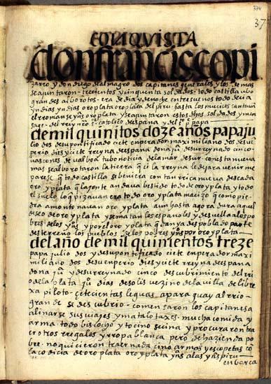 Los descubrimientos del Mar del Sur y del Río de la Plata, pág. 374