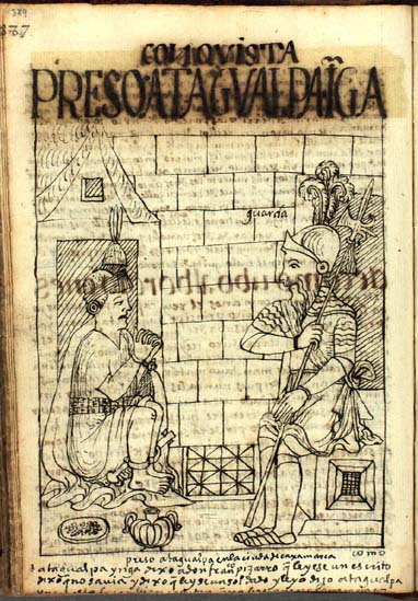 The imprisonment and execution of Atahualpa Inka (389-393)