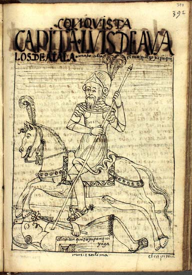 Captain Luis de Ávalos de Ayala kills Quizo Yupanqui Inka in the conquest of Lima. (p.394)
