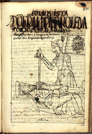 The deaths of Pizarro and Almagro (412-413)