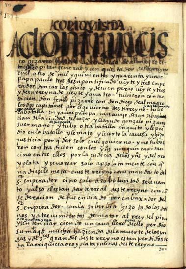 Las muertes de Pizarro y Almagro, pág. 413
