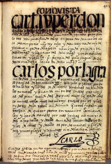 La llegada del presidente Pedro de la Gasca, pág. 420