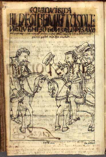 El recibimiento solemne del capitán Francisco Carvajal en Lima por Gonzalo Pizarro y los demás oficiales de la ciudad (pág. 421)