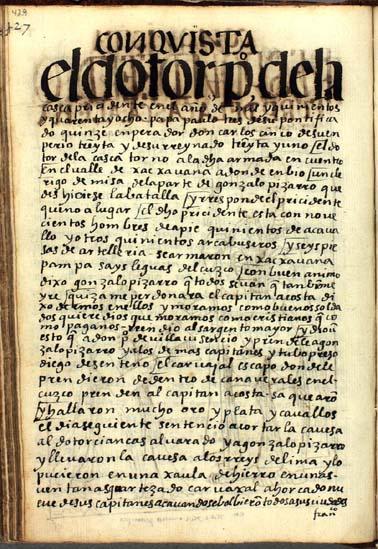 El presidente de la Gasca vence y ejecuta a Gonzalo Pizarro, pág. 429