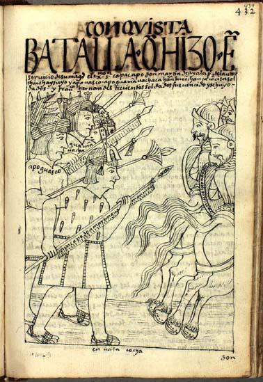 Don Martín Guaman Malqui de Ayala gives battle to Francisco Hernández Girón (434-435)