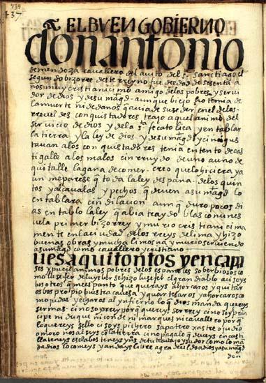 Don Antonio de Mendoza, el segundo virrey del Perú, pág. 439
