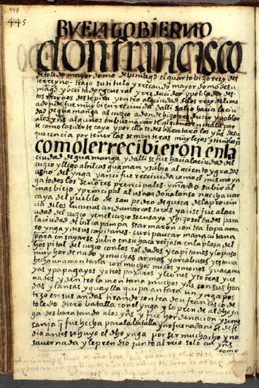 Don Francisco de Toledo, el cuarto (en realidad, el quinto) virrey del Perú, y su gobierno, pág. 447