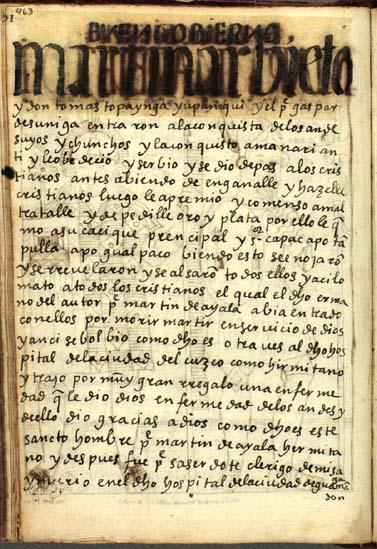 La conquista de los Andesuyos y los Chunchos, pág. 463