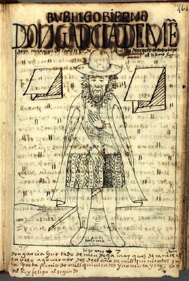 Don García Hurtado de Mendoza, the seventh (actually, eighth) viceroy of Peru (468-469)