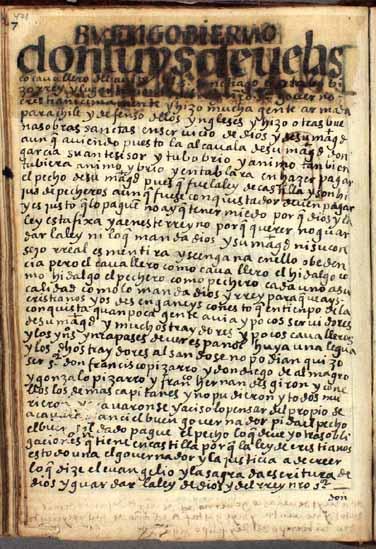 Don Luis de Velasco, el octavo (en realidad, el noveno) virrey del Perú, pág. 471