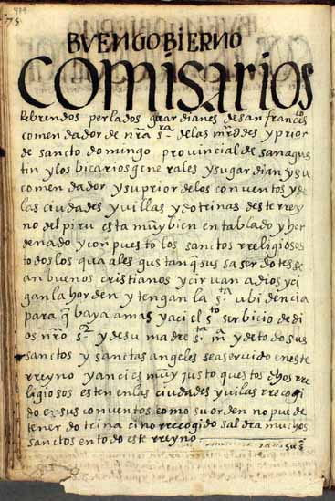 Comisarios generales, pg. 479