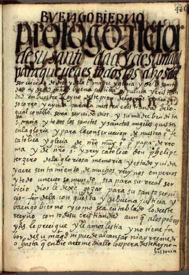 Prólogo a su Santidad y a su Magestad, pág. 490